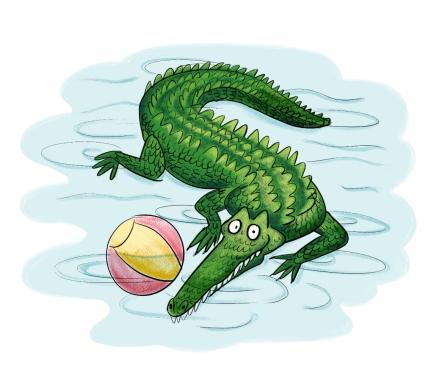Un alligator dans ma piscine. María Serrano